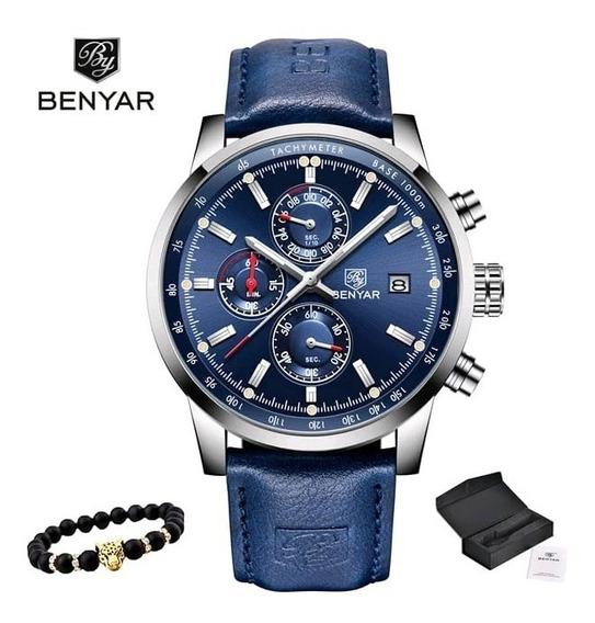 Relógio Benyar Sport Azul 43mm 3atm