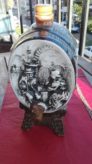 Antigua Licorera Barril De Cerámica Naonis Argentina