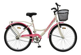 Bicicleta Tomaselli Paseo Lady Rodado 26 Todos Los Colores