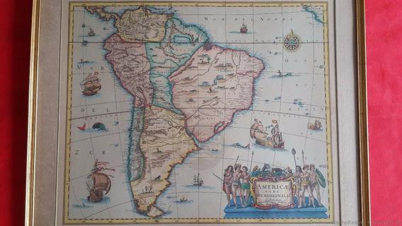 1630 Mapa Antiguo América Sur Argentina Sudamérica J.jansson