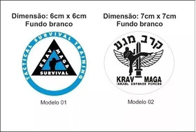 Adesivo Krav Maga Brasil 5 Unidades Defesa Pessoal Modelos