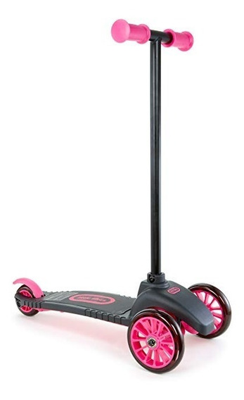 Little Tikes Learn To Turn Scooter Black-pink / Black- Blue