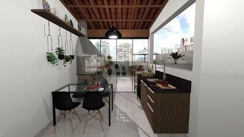 Imagem 1 de 6 de Cobertura Com 2 Dormitórios À Venda, 110 M² Por R$ 550.000 - Vila Pires - Santo André/sp - Co1375