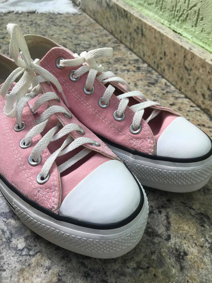 Tenis All Star Rosa Plataforma