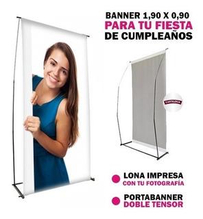 Lona Impresa Banner + Portabanner Mar Del Plata