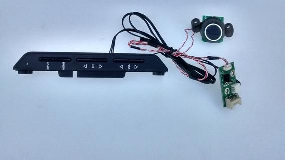 Teclado Botão Power Tv Buster Hbtv32-d06hd-original Snovo