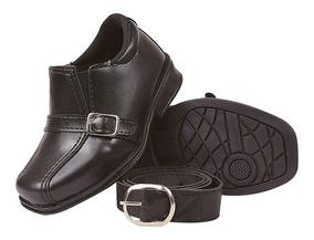 Sapato Social Infantil Masculino Com Cinto Fiv 20/27