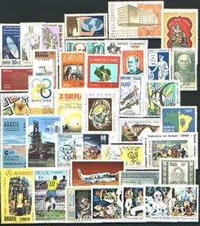 Ano Completo 1969---37 Selos Comemorativos