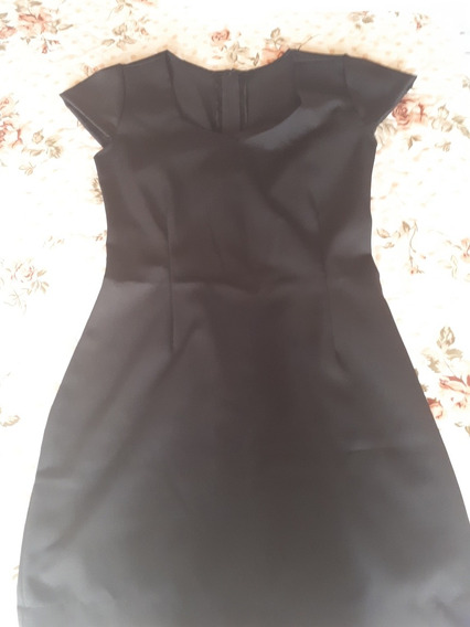 Vestido Justo, Preto Básico, P/ Colação De Grau E Formaturas