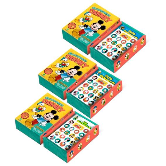 Box Quadrinhos Disney 15 Revistas + Cartelas