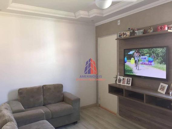 Apartamento Com 2 Dormitórios À Venda, 54 M² Por R$ 210.000 - Condomínio Terras De São Pedro - Jardim Das Laranjeiras - Santa Bárbara D