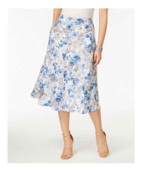 Falda Estampada De Flores Talla 14