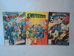 Lote Hq Superman Super Herois Ebal 54,57,23