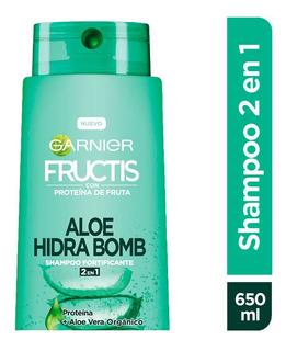 Shampoo 2 En 1 Aloe Hidra Bomb 650 Ml Fructis Garnier