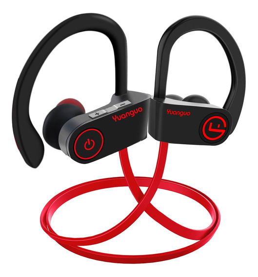 Audífonos Bluetooth Sport Hd Ipx7 Contra Agua Sudor Rojo