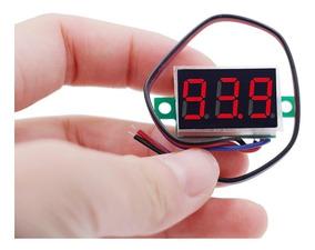 Mini Voltímetro Digital 3fios Led Verm. 0v 200v 0,36