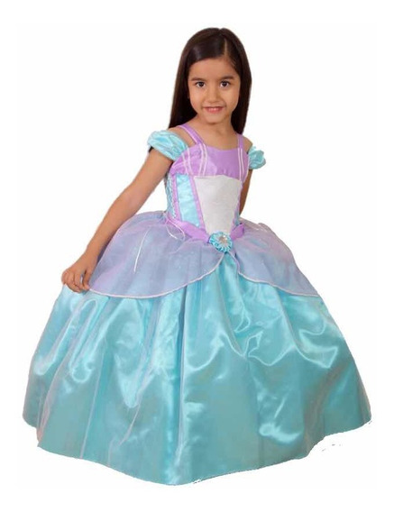Disfraz Tipo Sirenita Princesa Disney Gala Infantil