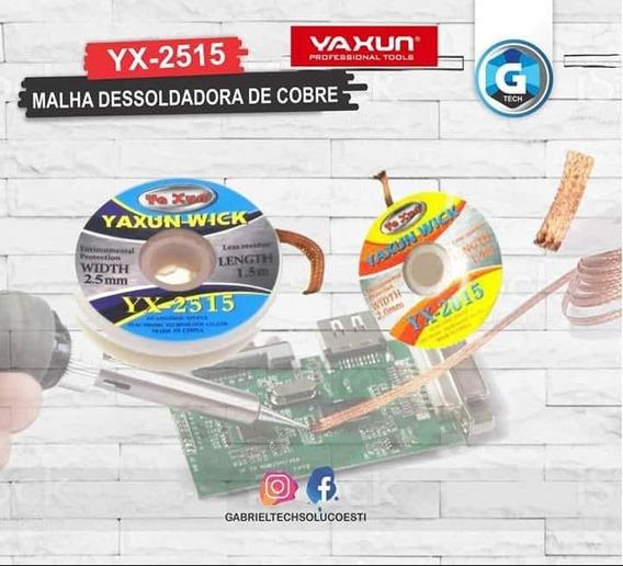 Malha Dessoldadora De Cobre Solda Yaxun Yx 2515 2,5mm -