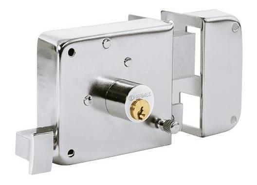 Cerradura Sobreponer Instalafacil Cromo Izq Fiero 43589