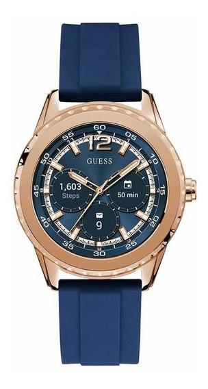 Reloj Guess C1002m2 Smartwatch Silicon Azul Nuevo Ven.nom