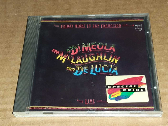 Di Meola Mclaughlin D Lucia Friday Night San Francisc Cd Imp