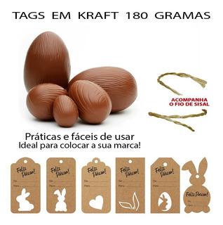 Tag Etiqueta Para Ovos De Páscoa Personalizada - 100 Peças