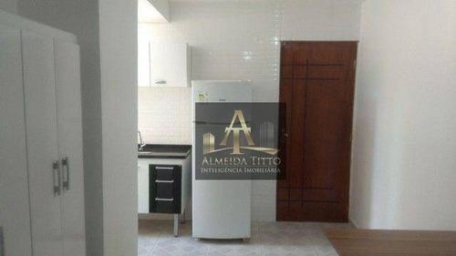 Imagem 1 de 11 de Casa Com 1 Dormitório Para Alugar, 30 M² Por R$ 1.100,00/mês - Vila Do Conde - Barueri/sp - Ca2709