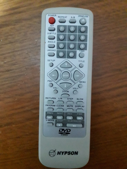 Controle Remoto Dvd Hypson H827d Novo Original!!!!