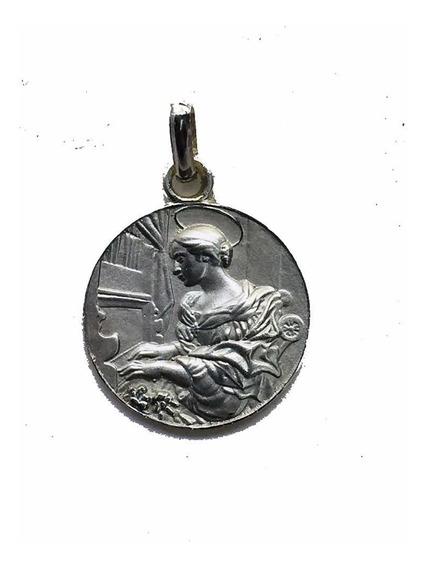 Medalla Santa Cecilia #1181 Plata 0.925 Bautizó Comunión