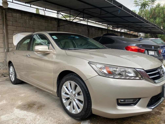 Honda Accord 2013 3.5 Ex-l Sedan V6 Piel Abs Qc Cd Nav Cvt