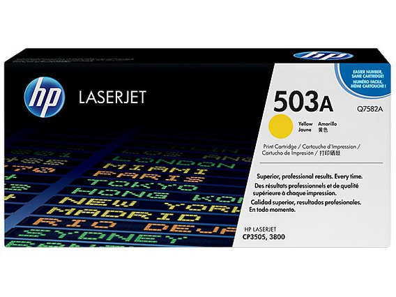 Toner Hp Cp3505 3800 Yellow Original Q7582a Amarelo