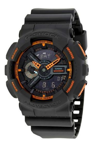 Relógio G-shock Ga110ts-1a4 Preto/laranja