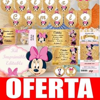 Invitacion Minnie Dorado En Mercado Libre Argentina