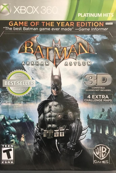 Jogo Batman Arkham Asylum