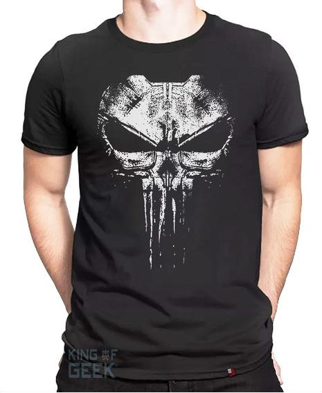 Camiseta The Punisher Marvel Camisa Justiceiro Caveira Geek