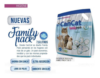 Piedras Sanitarias Can Cat Silica Family Pack X 7.6 Litros