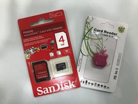 Cartão De Memória + Adaptador - Sandisk 4gb - Microsdhc Adp