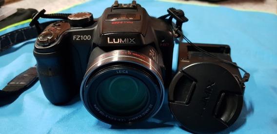 Camera Panasonic Lumix Dmc Fz100 Com Case. R$550,00