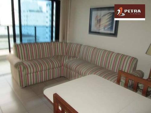 Imagem 1 de 15 de Apartamento A Venda No Guarujá, Praia Das Pitangueiras Com Vista Para O Mar - Pta3788