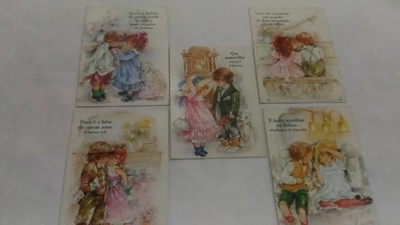 Kit 05 Cartões Postais Criancinhas Ambrosiana Dec 80/90