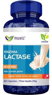 Enzima Lactase 400mg 60cps Muwiz