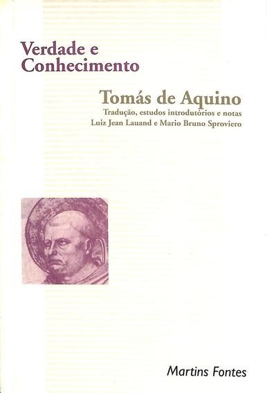 Tomás De Aquino - Verdade E Conhecimento