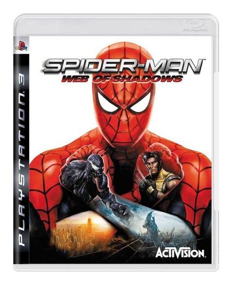 Spider Man Web Of Shadows - Ps3 - Original - Física - Usado