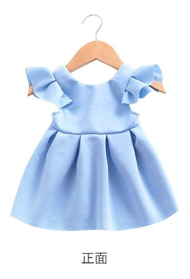 Vestido Para Niña Niñas Bebé Con Moño Y Encaje En Espalda
