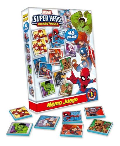 Imagen 1 de 3 de Memotest Juego De Memoria Avengers Marvel Heroes Aventura Ed