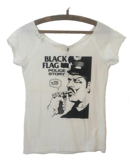 Remera Black Flag Talle M