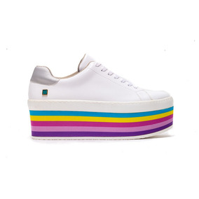 ac532dbfd3 Perugia 70261 Tenis De Mujer Plataforma Multicolor Blanco