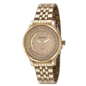 Relógio Mondaine Feminino 99266lpmvde1 Cristais Dourado