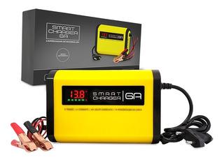 Carregador Bateria 6ah C/ Indicativo Carga Automotivo E Moto