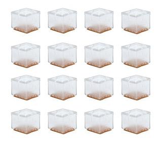 16pcs Sillonce Pies Pata De Silla Pad Cuadrado Muebles Patas